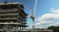 Stock Video Footage of Tower crane at work. Timelapse. 25fps.