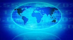 Stock exchange screen, the global reach. - stock footage