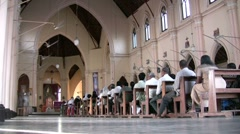 Church mass in Sri Lanka, religion, Christianity, Asia Stock Footage