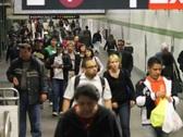Subway Crowd NTSC Stock Footage