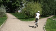 Girl rides a bicycle12 Stock Footage