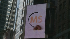 Video display of hand in Times Square, New York Stock Footage