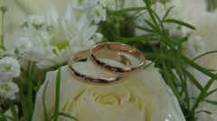 Two gold rings - stock footage