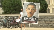 Stock Video Footage of Hitler-Obama sign