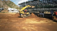 Stock Video Footage of Cat 257B Track SKid Steer HD