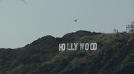 Hollywood Sign with Heli zoom out0050OY Stock Footage