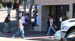 TimeLapse -Busy street UCLA 4 Stock Footage