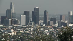 Downtown Los Angeles zoom out 003301 Stock Footage