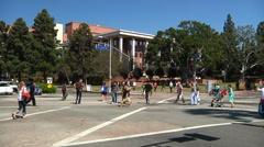 TimeLapse -Busy street UCLA 2 Stock Footage