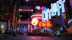 Universal City Walk - Timelapse - stock footage