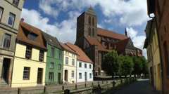 Wismar Nikolai church Stock Footage