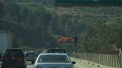 Car traffic on the 405 in Los Angeles Stock Footage