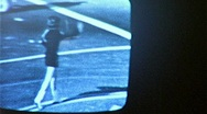 Watching Television TV in Dark Room Broadcast 1960s Vintage Film Home Movie 233 Stock Footage