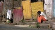 Poverty in Sri Lanka, distress, third world, sadness, no future, depression Stock Footage