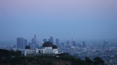 Compressed View of Los Angeles from Griffith Observatory Stock Footage