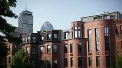 Back bay rooftop Stock Footage