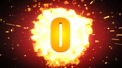 Really hot countdown animation Stock Footage