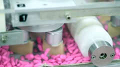 Pharmaceutical Industry - Blister Packaging Machine Stock Footage