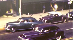Street Scene Holland, Michigan,  Circa 1945 (Vintage 8mm Home Movie Footage) 171 Stock Footage