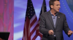 "Stock Footage Tim Pawlenty - ""Candidates that have the record to to the job"" Stock Footage"