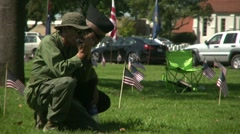 Veterans remember fallen soldiers on Memorial Day Stock Footage