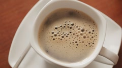 Sequence of Pouring coffee Stock Footage