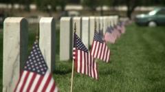 Veterans Memorial - Medium Shot Stock Footage