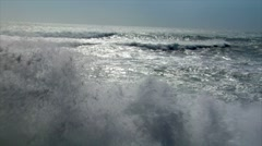 wave squall line backlight - stock footage