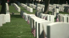 Veteran's Cemetary Stock Footage