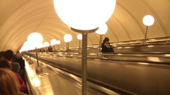 People On An Escalator Stock Footage