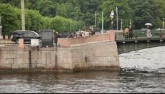 Fontanka and Moyka rivers crossing, chizhik-pyzhik Stock Footage