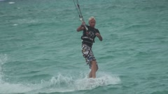 Kite Surfing in Hawaii. Stock Footage