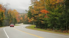 Kanc Highway Autumn colors, New Hampshire - stock footage