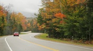 Stock Video Footage of Kanc Highway Autumn colors, New Hampshire