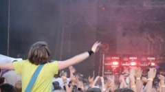 People at the concert open air Stock Footage