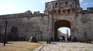 Stock Video Footage of Gate of city wall in Campeche, Mexico
