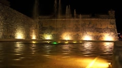 Fountain in Campeche Stock Footage