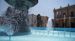 Fountain in Puebla Stock Footage