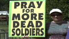Westboro Baptist Church protest - stock footage