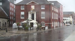 The Old Customs House in the rain Stock Footage