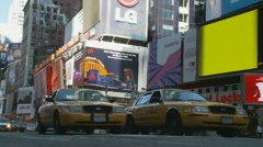 Times Square traffic Stock Footage