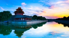 Stock Video Footage of Forbidden City , Beijing, China Timelapse