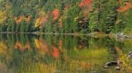 Acadia Autumn reflections Stock Footage