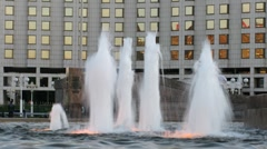 The Abduction of Europa fountain in Moscow Stock Footage