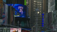 Quick zoom out Times Square Stock Footage