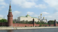 Military vehicles at Victory Day Parade near Kremlin Stock Footage