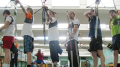 Young men participate in IV Traditional archery tournament in RSUPES&T - stock footage