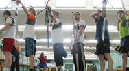 Stock Video Footage of Young men participate in IV Traditional archery tournament in RSUPES&T
