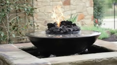 Fire bowl Stock Footage