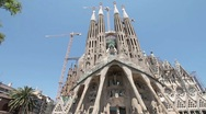 Stock Video Footage of Barcelona Spain Sagrada Familia pan P HD 061